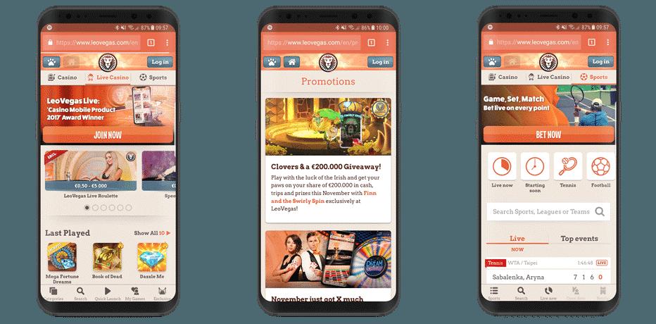 Mega Moolah Mobile app