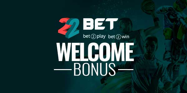 The welcome bonus at 22bet