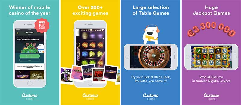 Casumo Casino app features
