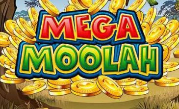Mega Moolah Logo for the jackpot game powered by Microgaming