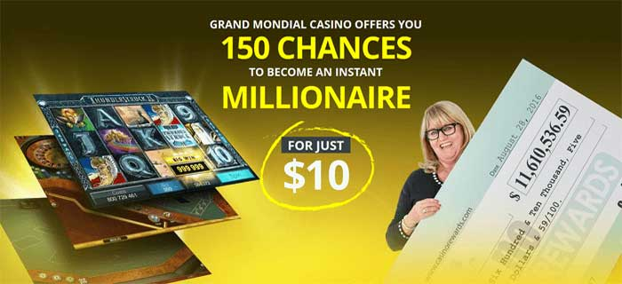 150 free spins at grand mondial