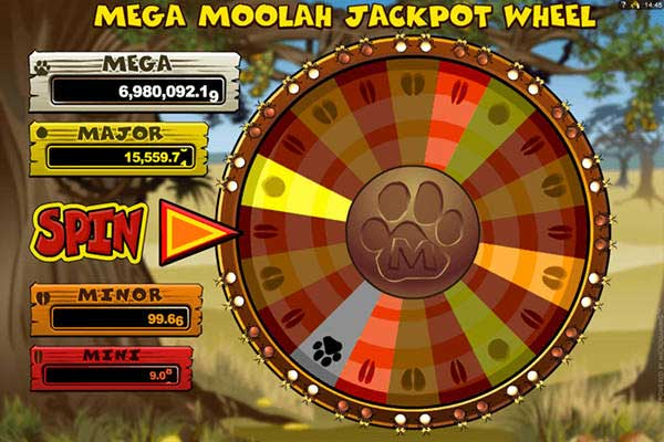 How to trigger the mega moolah jackpot wheel